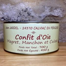 CONFIT D'OIE Magret et Manchon + 1 Cuisse 3 Parts