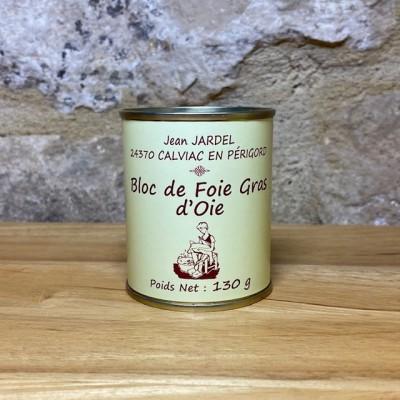 BLOC de FOIE GRAS d'OIE boite haute 130g
