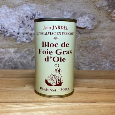BLOC de FOIE GRAS d'OIE boite haute 200g
