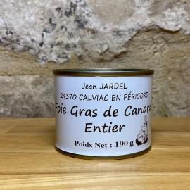 FOIE GRAS DE CANARD ENTIER 190g Boite médaille d'Argent 2015