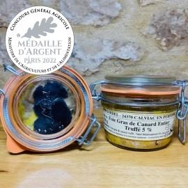 Foie Gras de Canard entier Truffé 5% 120g Médaille de bronze Paris 2020
