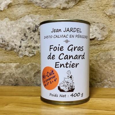 FOIE GRAS DE CANARD ENTIER MI-CUIT boite 400g